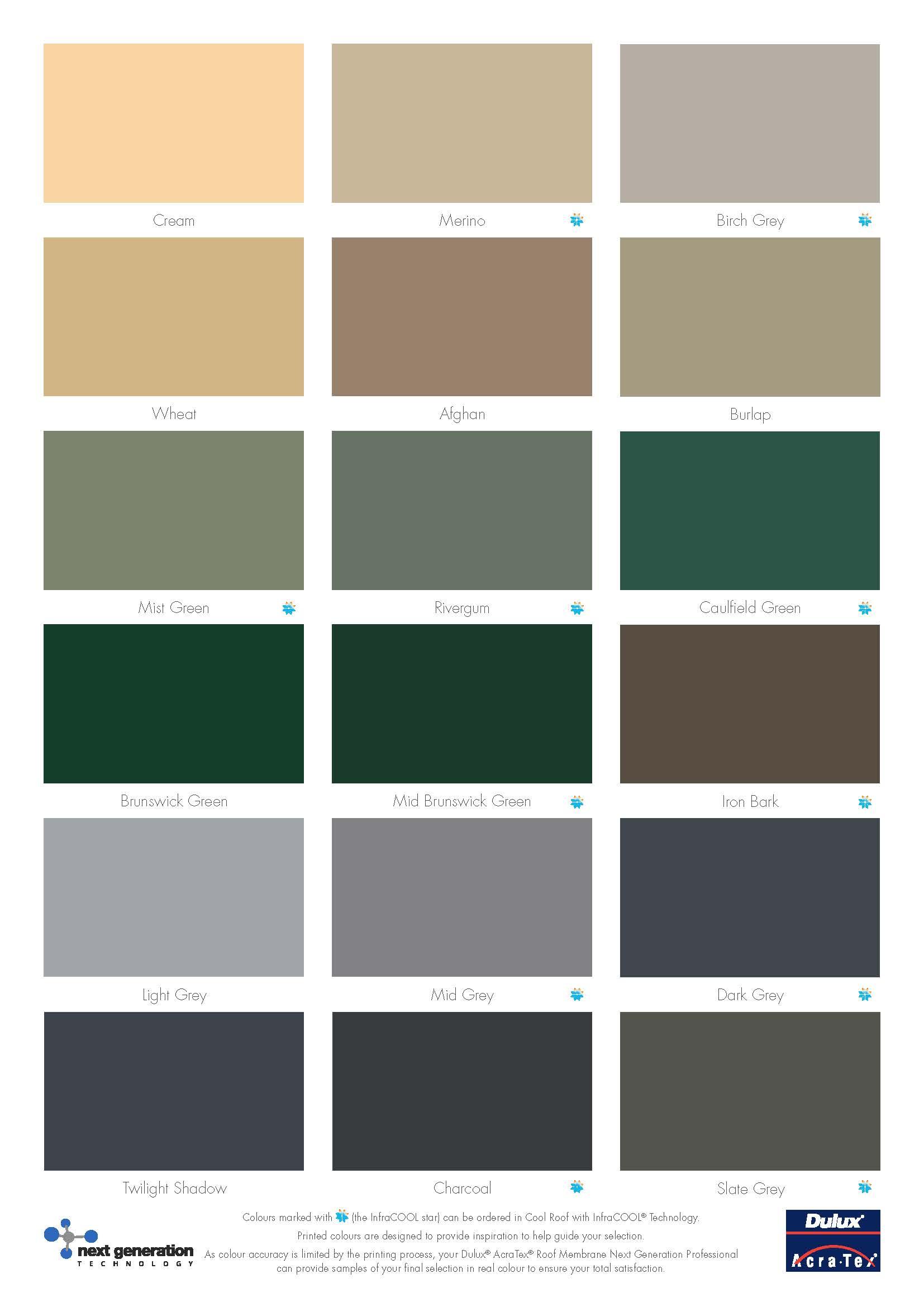 Dulux Paint Colour Charts Australia